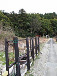 稲生神社を後にしてJR二見浦駅方向へ(伊勢市二見町三津)