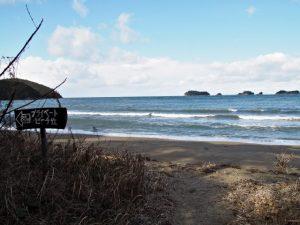 粟皇子神社(皇大神宮 摂社)付近の海岸