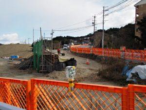 拡幅工事中の国道42号(伊勢市二見町松下)