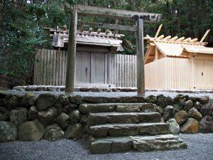 御造替の準備が始まった朝熊御前神社(皇大神宮 摂社)