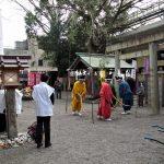 節分祭 稲蔓蛇(トウバンジャ)神事の祭場、今社(伊勢市宮町)