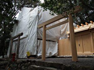 簀屋根が掛けられていた朝熊御前神社と朝熊神社(ともに皇大神宮 摂社)