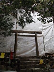 簀屋根が掛けられていた朝熊御前神社(皇大神宮 摂社)