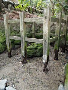 鏡宮神社(皇大神宮 末社)の虎石