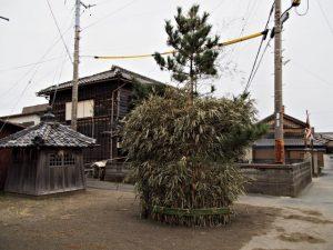 高向御頭神事-朝の積木(ツムギ)祭場