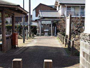 菅原神社が鎮座する臥竜梅公園(伊勢市御薗町新開)