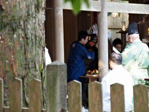 獅子舞神事、田丸神社(玉城町下田辺)