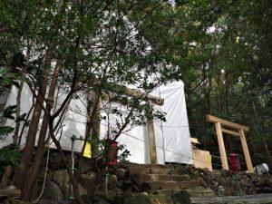 御造替中の朝熊御前神社(皇大神宮 摂社)
