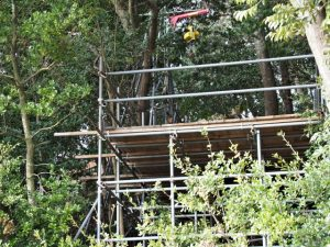 朝熊神社(皇大神宮 摂社)に残されていた仮設の作業台
