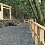 建て替えられていた木柵、朝熊神社・朝熊御前神社(ともに皇大神宮 摂社)
