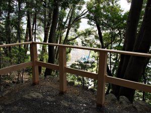 仮設の作業台が撤去されていた朝熊神社・朝熊御前神社(ともに皇大神宮 摂社)