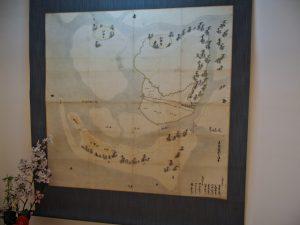 山田奉行所記念館に展示されている立合誓断之絵図