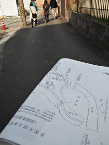 享保年間大湊町絵図模写(波除堤築造以前)に描かれた北町通り