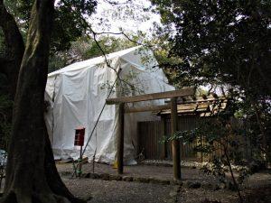 すでに御造替が始まっていた粟皇子神社(皇大神宮 摂社)