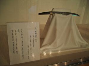 展示番号3、幕末田丸の名刀展(村山龍平記念館)