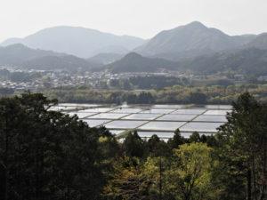 赤井山々頂から望む米山新田方向