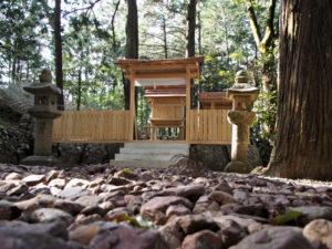 4月6日に御遷座を終えた赤井神社(伊勢市上野町)