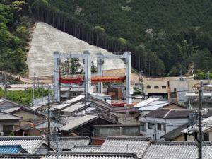 長島神社から眺めた江の浦橋(北牟婁郡紀北町長島)