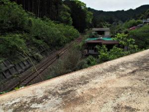 JR紀勢本線と国道42号の交差(魚まち〜一石峠)