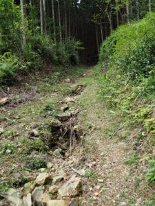 一石峠・平方峠越え熊野古道の説明板〜一石峠
