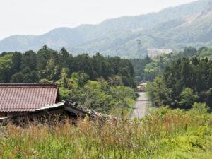 東泉寺からの風景(いなべ市藤原町長尾)