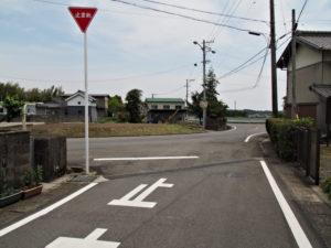 県道107号との合流点(濃州道)