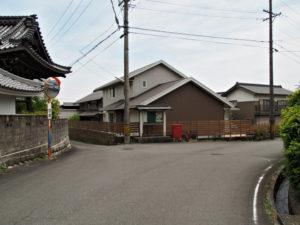 徳圓寺付近の分岐(濃州道)
