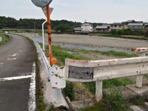 員弁川に架かる川合橋[4](濃州道)