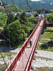 櫛田川に架かる吊り橋、茶倉橋