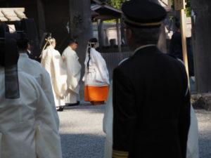 即位礼及び大嘗祭期日奉告祭 奉幣の儀(外宮)