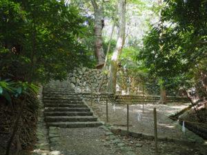 伊我理神社(豊受大神宮 末社)への階段