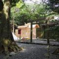 新しい殿舎と現在の殿舎、粟皇子神社(皇大神宮 摂社)
