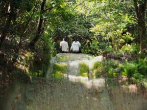 125社まいりのおふたり、神前神社(皇大神宮 摂社)