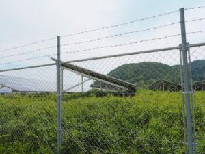 神前海岸付近のメガソーラー(伊勢市二見町松下)