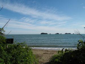粟皇子神社(皇大神宮 摂社)付近から望む飛島