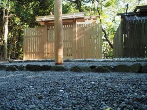 祭典の名残、粟皇子神社(皇大神宮 摂社)