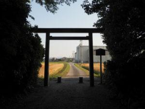 神麻続機殿神社(皇大神宮 所管社)の社窓風景