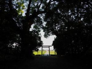 神服織機殿神社(皇大神宮 所管社)の社窓風景
