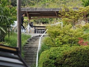 巡見道から望む三岐鉄道三岐線 西藤原駅