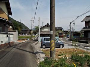 鳴谷神社への分岐付近(巡見道)