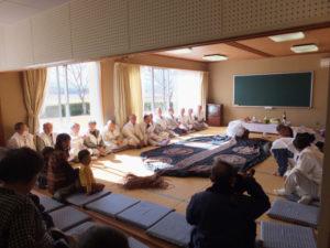 2013年02月16日 服部勝行さん、下田辺公民館(田丸神社、獅子頭の田辺地区巡幸)