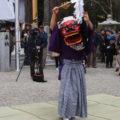 2017年03月25日 服部勝行さん、獅子舞奉納(朝柄八柱神社の式年御遷座奉祝祭)