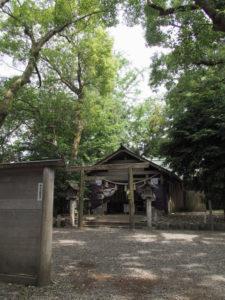 月次祭の朝、箕曲中松原神社(伊勢市岩渕)