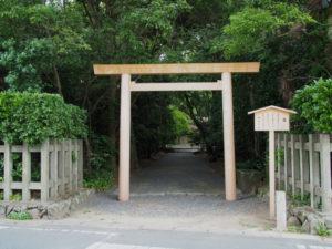 御塩殿神社(皇大神宮 所管社)参道入口付近
