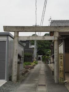 御塩道(二見神社参道入口付近)