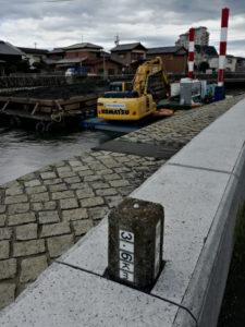 浚渫作業(平成30年度 勢田川河川整備工事)