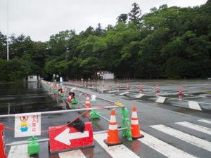 駐車場付近から五十鈴川に架かる宇治橋へ