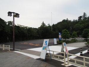 舗装工事を終えた宇治橋前のA3駐車場
