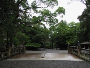第一鳥居前の火除橋(内宮)