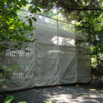 足場が掛けられていた外宮斎館の御門